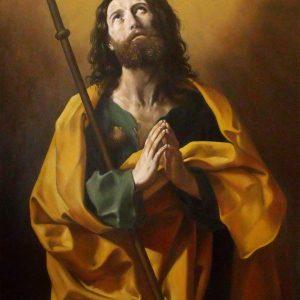 Guido Reni: Id. Szent Jakab (másolat, olaj, vászon, 160 x 110 cm)