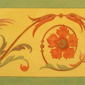 19. századi groteszk ornamentika (másolat, mész-kazein)