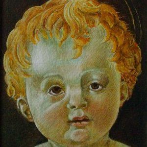 A gyermek Jézus (részlet) (másolat, akvarell, papír)