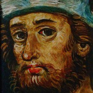 Jakabfalvi mester: Jelenetek Szent Jakab legendájából (részlet) (másolat, akvarell, papír)