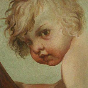 Puttó – barokk falképrészlet másolata (tojásszekkó)