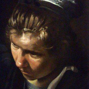 Diego Velázquez: Étkező parasztok (részlet) (másolat, olaj, vászon, 20 x 30 cm)