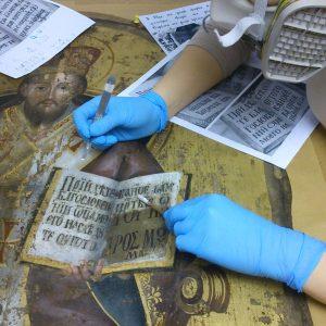 Spalinszky Mihály: Krisztus-Főpap (1783) ikon restaurálása