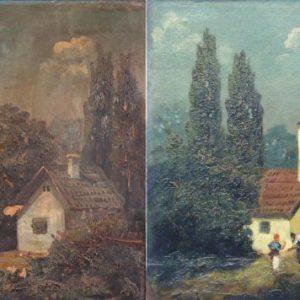Tornyi J.: Falusi idill restaurálás előtt és után