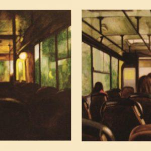 Napszakok I-II. (akvarell, papír, 40 x 20 cm)