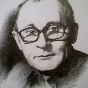 Ladányi Mihály portréja (grafit, papír)