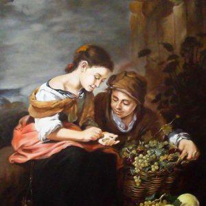Bartolomé Esteban Murillo: A kis gyümölcsárus  (másolat, olaj, vászon, 60 x 80 cm)