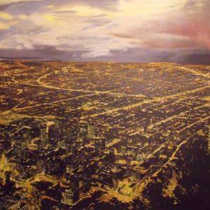 Bogota (olaj, vászon, 180 x 100 cm)