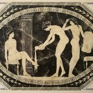 Fürdőzők görög ihletésre I. (szekkótechnika)