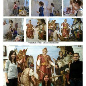Than Mór: Géza fejedelem mezőgazdaságot oktat - plakát  (másolat, tiszta freskó, 220 x 160 cm) Orbán Edinával és Szokán Erikával közös munka.