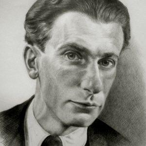 Radnóti Miklós portréja (grafit, papír)