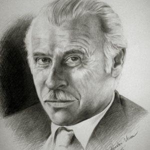 Takáts Gyula portréja (grafit, papír)