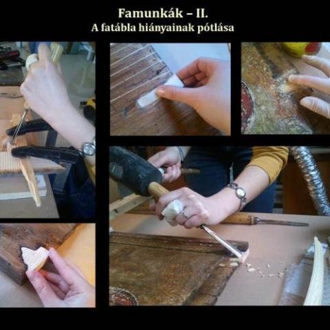 Famunkák - II. A fatábla hiányainak pótlása